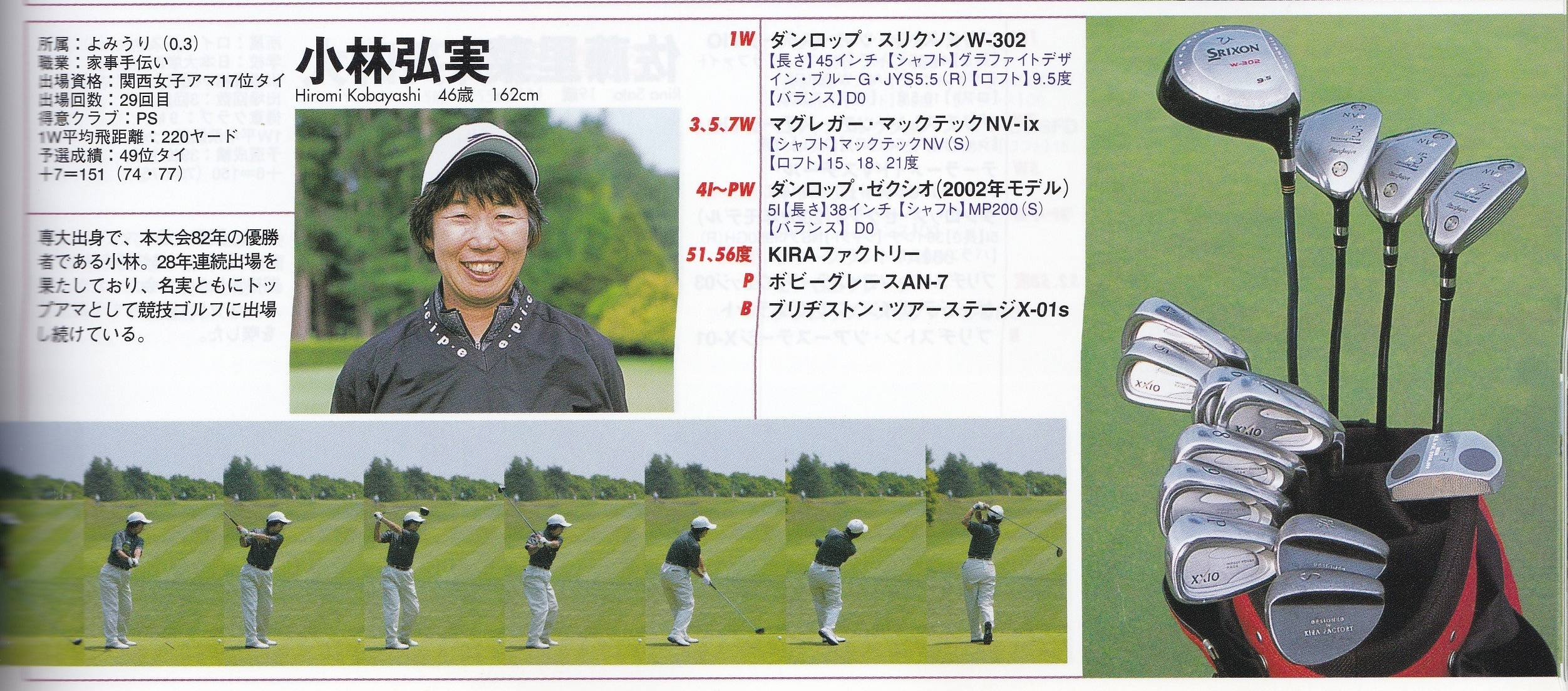 2005.9 Golf Style Japan women's amateur club's setting